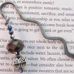Beaded Bookmark, Gun Metal ..