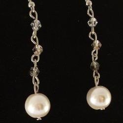 Crystal Earrings with Crystal Pearls
