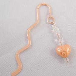 Beaded Copper Bookmark