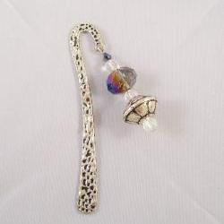 Beaded Bookmark, Silver Antiqued Finish