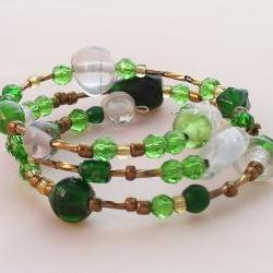 Green with Envy, Beaded Bracelet
